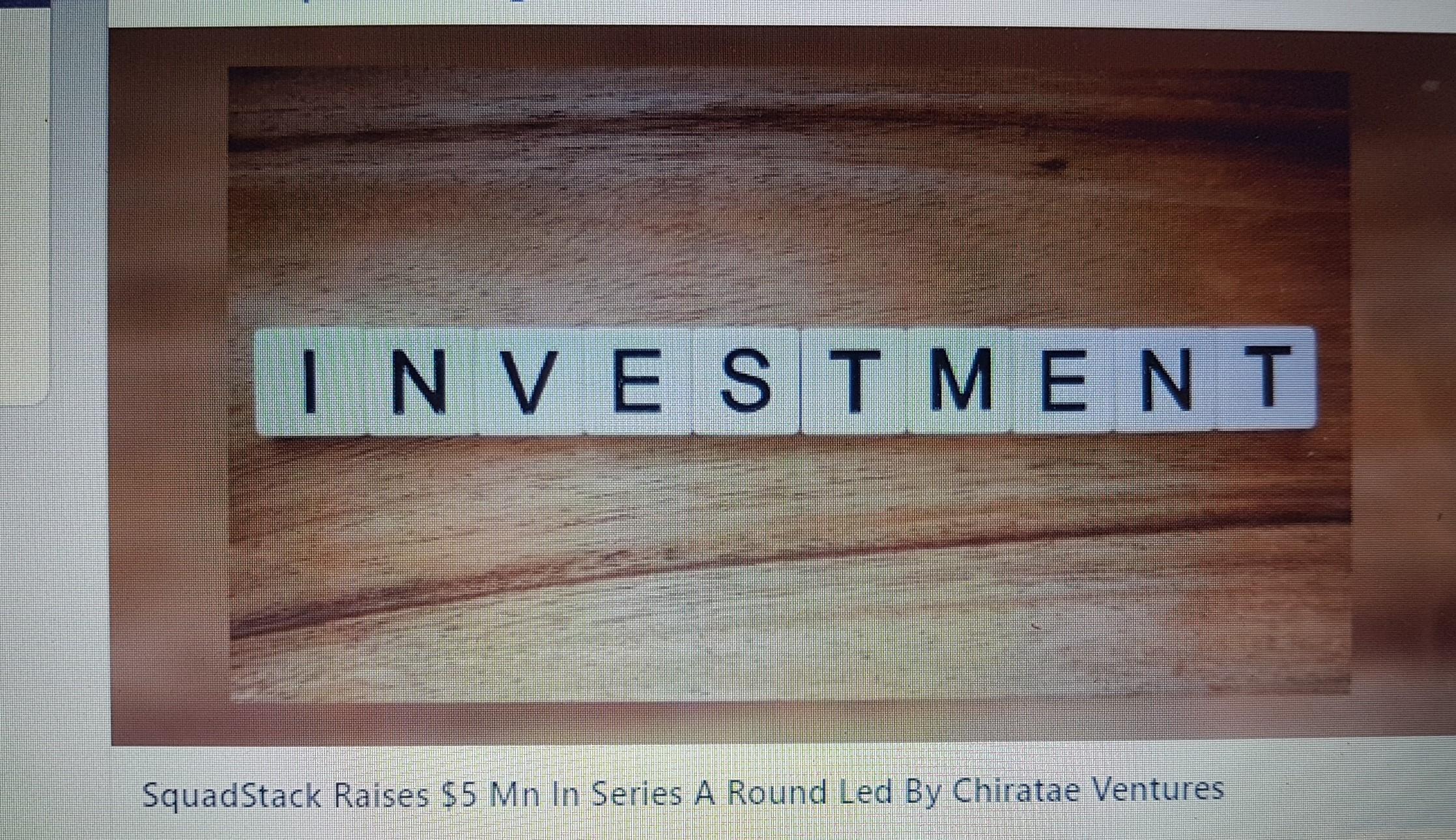 Portfolio company SquadRun raises $5m from consortium led by Chiratae Ventures